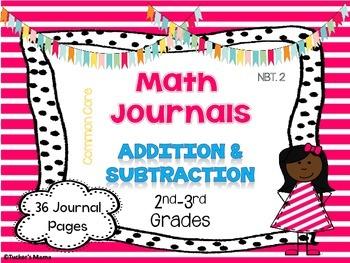 3 Digit Addition & Subtraction Math Journals