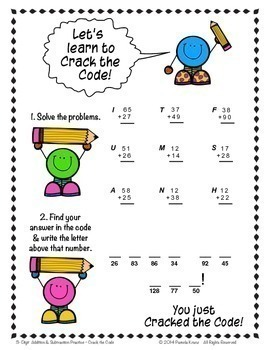 3-Digit Addition & Subtraction Practice ~ Crack the Code!
