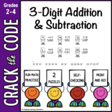3-Digit Addition & Subtraction Practice Crack the Code
