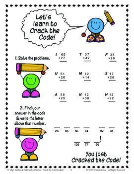 3-Digit Addition & Subtraction Practice ~ Crack the Code Bundle!