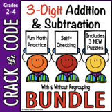 3-Digit Addition & Subtraction Practice ~ Crack the Code Bundle!