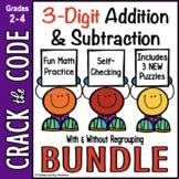 3-Digit Addition Subtraction Practice   Crack the Code   D