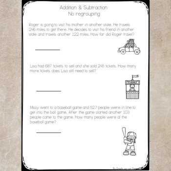 3 Digit Addition & Subtraction Quiz with worksheets- No ...