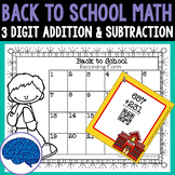 Back to School 3 Digit Addition & Subtraction Review Task