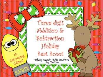 3 Digit Addition & Subtraction Without Regrouping Seat Sco