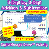 3 Digit Addition & Subtraction w/ Regrouping Missing Number Activity