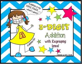 3-Digit Addition Task Card Activity Set (With Regrouping-Ones)