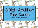 3 Digit Addition Task Cards