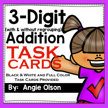 3-Digit Addition Task Cards