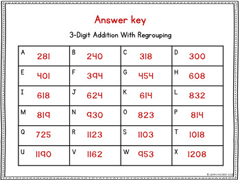 3 Digit Addition With Regrouping Task Cards
