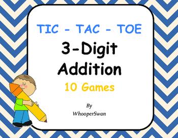 3-Digit Addition Tic-Tac-Toe