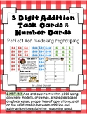 3 Digit Addition With Regrouping Task Cards and Modeling Cards