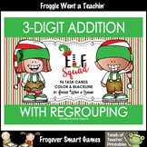 """3-Digit Addition With Regrouping (ones place only) -- """"Elf Squad"""""""
