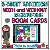 3-Digit Addition With and Without Regrouping Color by Number BOOM Cards™