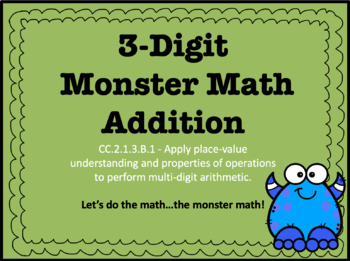 3-Digit Addition With and Without Regrouping PowerPoint CC