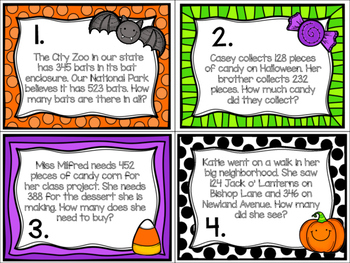 3 Digit Addition Word Problems