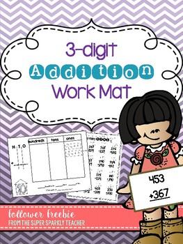 3-Digit Addition Work Mat