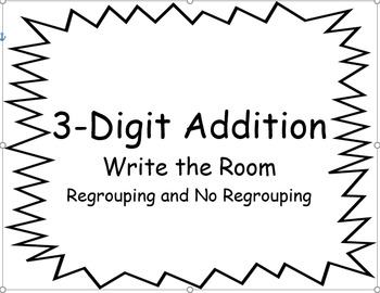 3-Digit Addition Write the Room