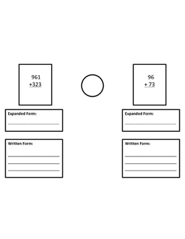 3-Digit Addition (Written Form and Expanded Form)
