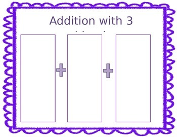 3 Digit Addition addends mats