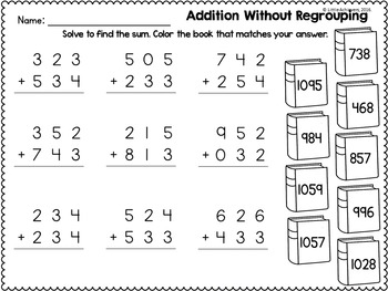 3 Digit Addition and Subtraction Without Regrouping
