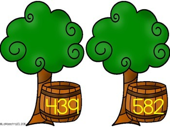 3 Digit Addition and Subtraction Apple Trees