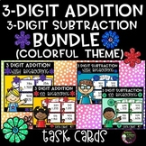 3-Digit Addition and Subtraction BUNDLE (Colorful Theme)