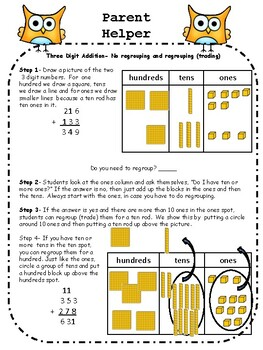 3 Digit Addition and Subtraction   Front End ,Open Ended Number lines