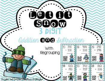 3-Digit Addition and Subtraction- Let it Snow