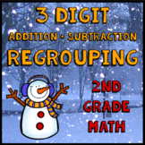 3 Digit Addition and Subtraction Math Practice with Regrou