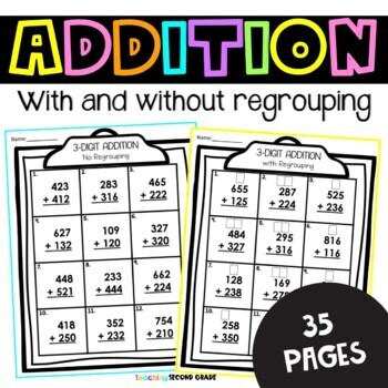 3 Digit Addition and Subtraction | 3 Digit Addition | 3 ...