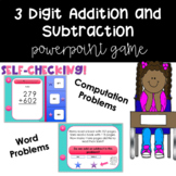 3 Digit Addition and Subtraction PowerPoint Game (SELF-CHECKING!)