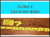 3 Digit Addition and Subtraction Riddles