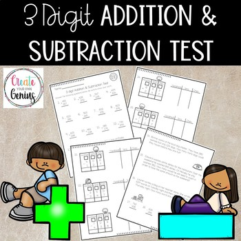 3 Digit Addition and Subtraction Test