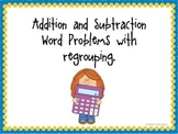 3 Digit Addition and Subtraction With Regrouping Word Prob