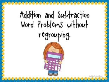 3 Digit Addition and Subtraction Without Regrouping Task Word Problem Task Cards