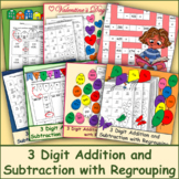 3 Digit Addition and Subtraction with Regrouping Bundle