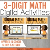 3 Digit Addition and Subtraction with Regrouping DIGITAL Math Activities Bundle