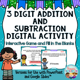 3 Digit Addition and Subtraction with Regrouping Digital G