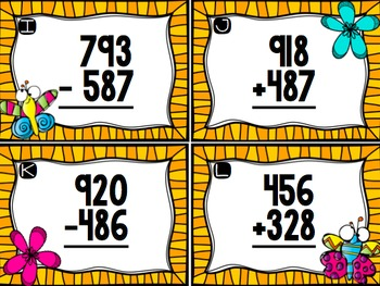 3 Digit Addition and Subtraction with Regrouping Scoot BUNDLE