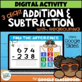 Distance Learning: Digital 3 Digit Addition and Subtractio