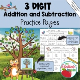 3-Digit Addition and Subtraction with and without Regrouping {Spring Theme}