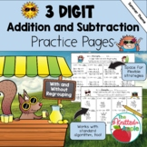 3-Digit Addition and Subtraction with and without Regrouping {Summer Theme}