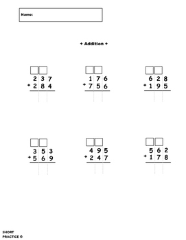 3-Digit Addition with Regrouping