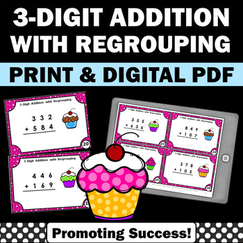 3 Digit Addition with Regrouping, Addition Games for Second Graders Third Grade