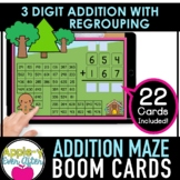 3 Digit Addition with Regrouping   Boom Cards™ - Distance