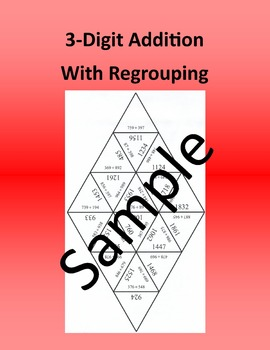 3 - Digit Addition With Regrouping – Math puzzle