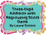 3-Digit Addition with Regrouping Scoot Game