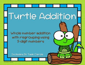 3 Digit Addition with Regrouping {Turtle}