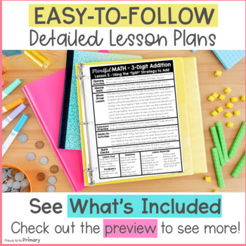3-Digit Addition (with or without regrouping) Second Grade Mindful Math